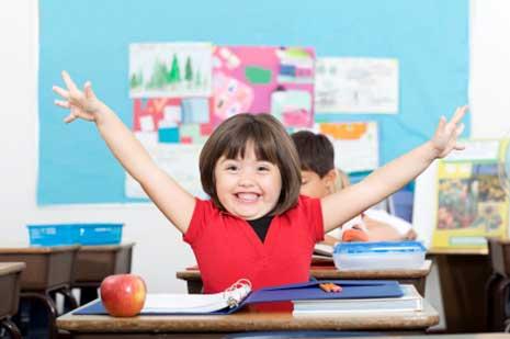 Schulkind-happy