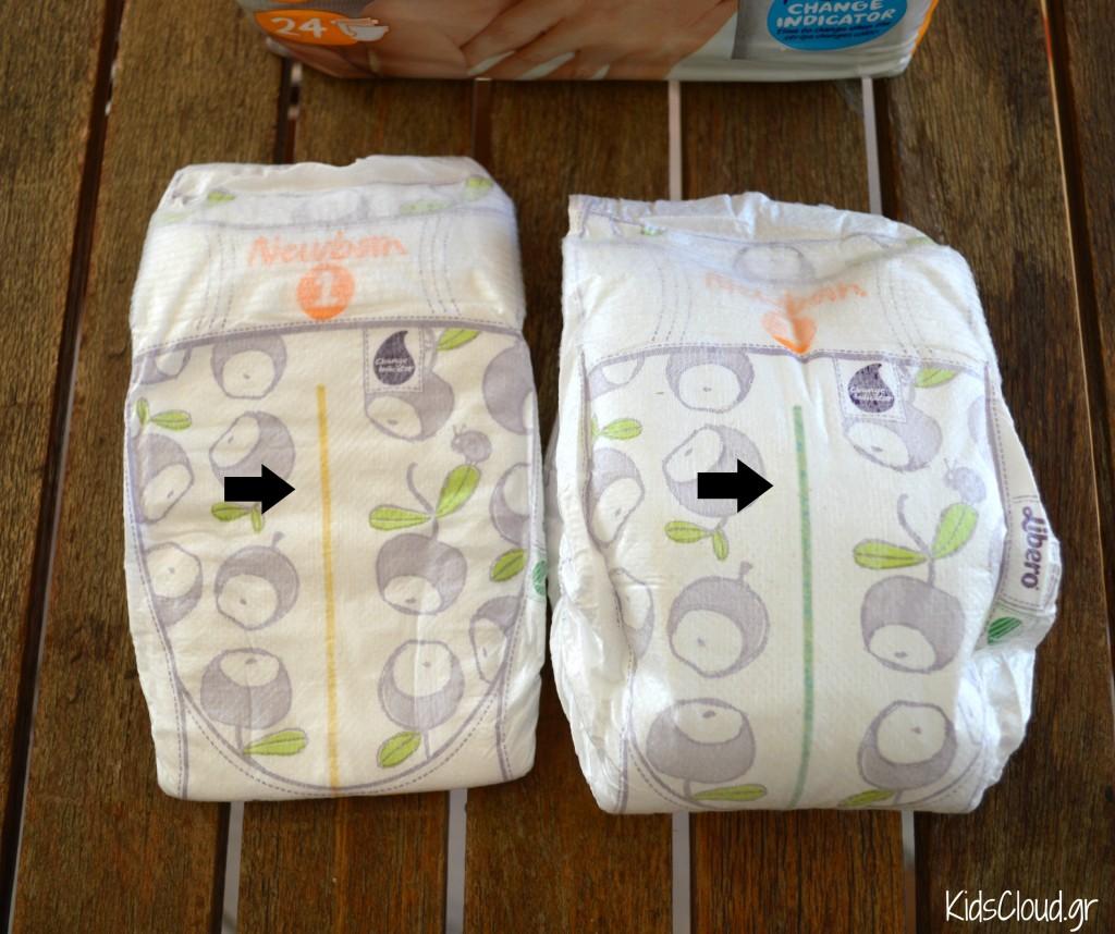 Libero newborn change indicator
