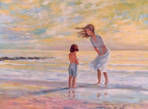 Mother and Child at the Beach