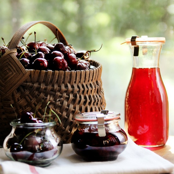 Jar cherry sweet