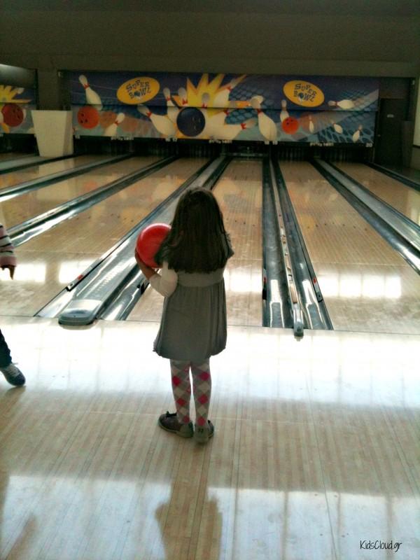 Girl at bowling